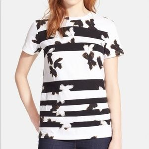 Marc by Marc Jacobs Striped Floral Tee Shirt